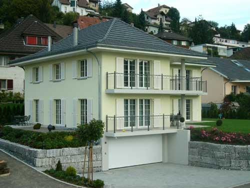 Landhaus mit integrierter garage